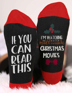 I'm Watching Hallmark Christmas Movies Crew Socks