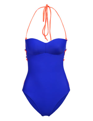 Halter Lace Up Swimsuit