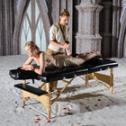Master Massage 81cm Husky Gibralter™ Extra Groß Portable Massagebett Package, Enorme Massageliege,Schwarz
