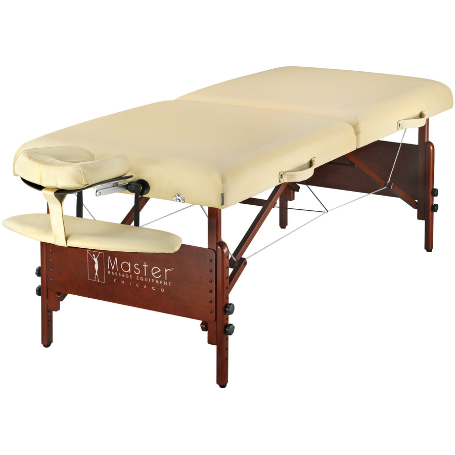 Master Massage 76 cm Del Ray Pro Tragbarer Massage-Therapie Beauty Couch Tisch Massageliegen Bett Paket, luxuriöser mit 6,3 cm dick Kissen aus Schaumstoff Sahne
