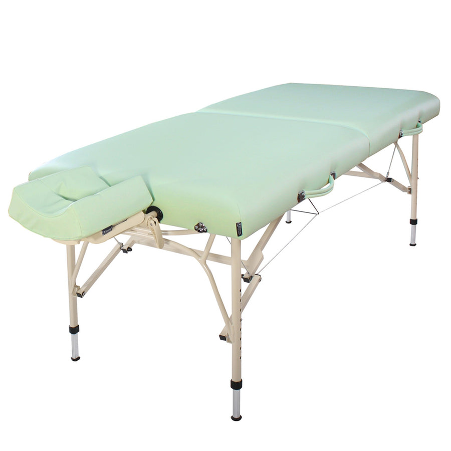 Master Massage Bel Air Massageliege 76cm aus leichtem Aluminium Ideal zum Transportieren für Praxis Wellness Spa in Lily Green Aluminium