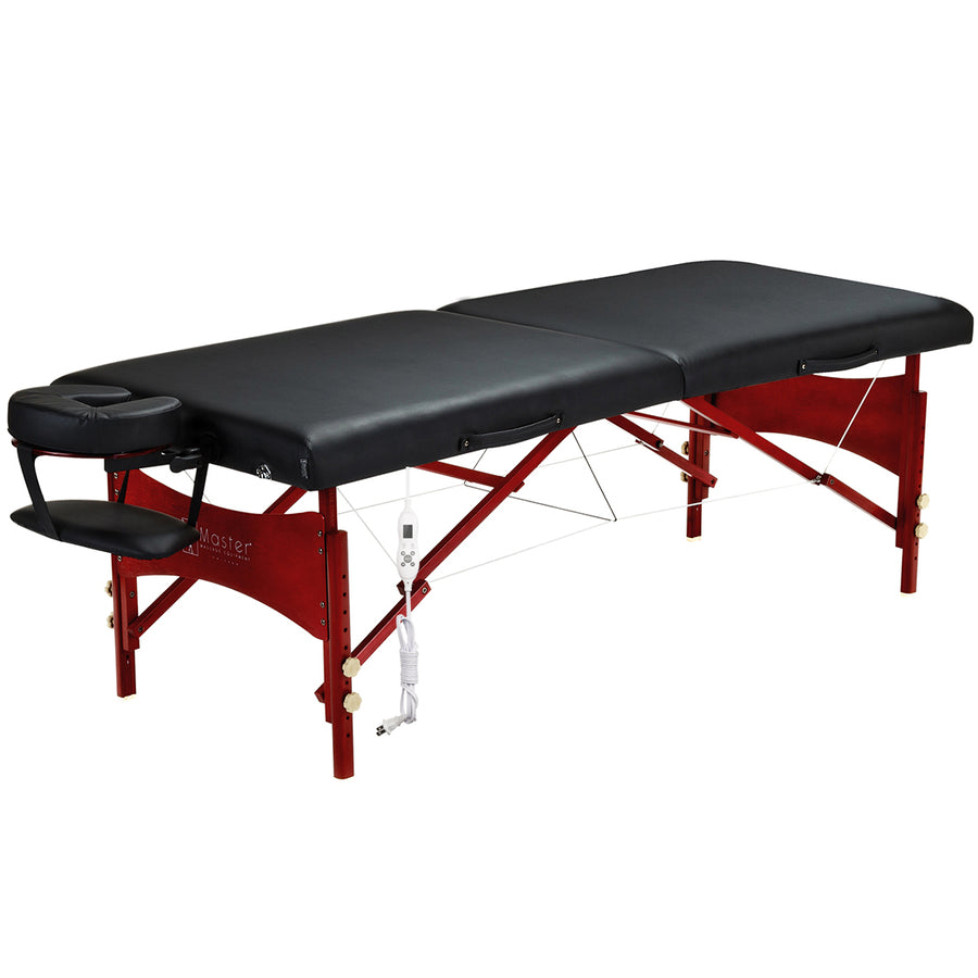 Master Massage Roma 71cm Mobil tragbar Massageliege Massagebett Massagebank Kosmetikliege (Therma Top EU Plug)