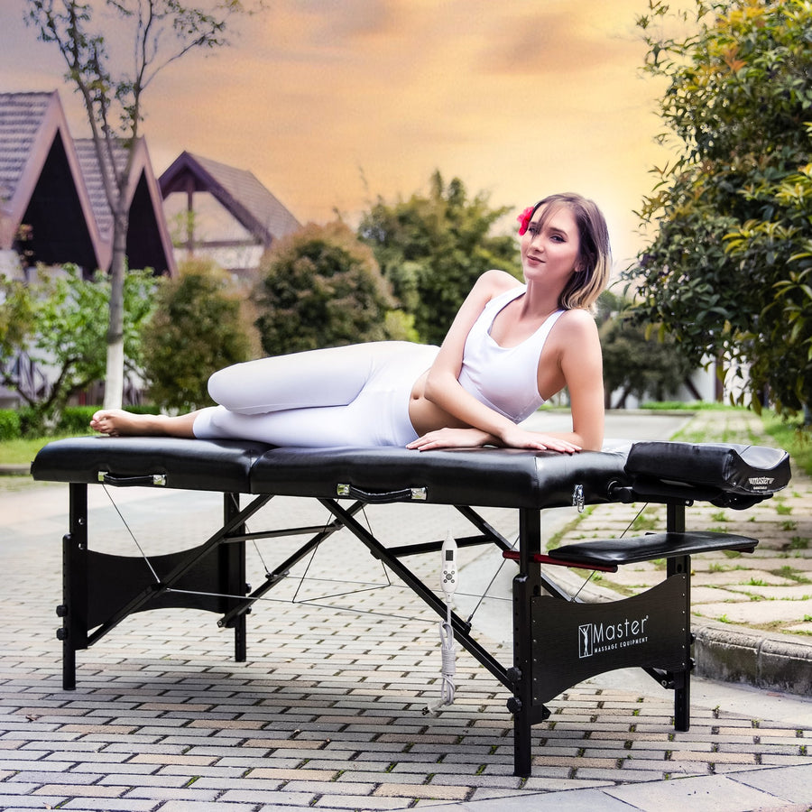 Master Massage 71 cm Galaxy Mobil tragbar Massageliege Massagebett Massagebank Kosmetikliege (Therma Top EU Plug)