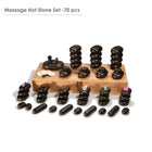 Master Massage 70 Stück Hot Stone Set Massagesteine Massage in dekorativer Bambuskiste America Brand