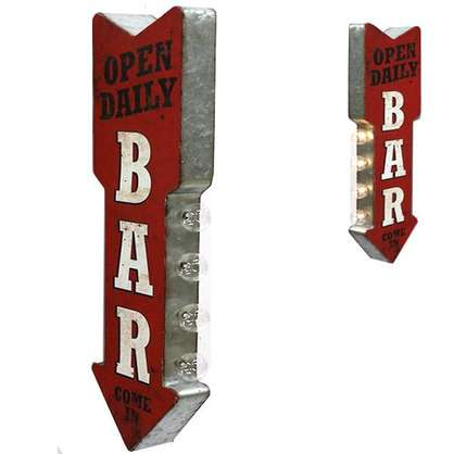 Bar Open Daily Vintage Marquee LED Sign