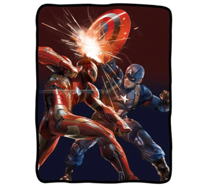 Marvel Avengers Throw - Iron Man and Captain America