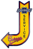 Chevrolet Service Arrow Die Cut Sign