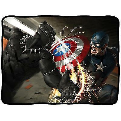 Marvel Avengers Throw - Captain America, Black Panther