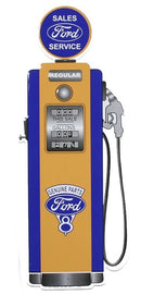Classic Ford Gas Pump Embossed Tin Sign