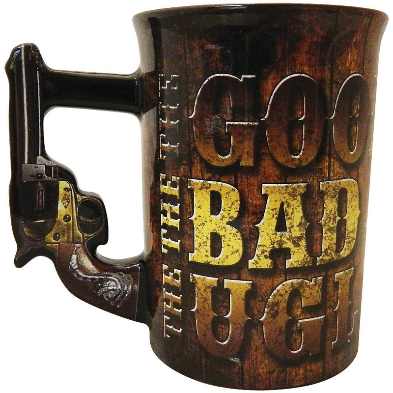 The Good, The Bad and The Ugly Mug with decorative Handle