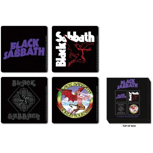 Black Sabbath Coaster Set: Class Icons