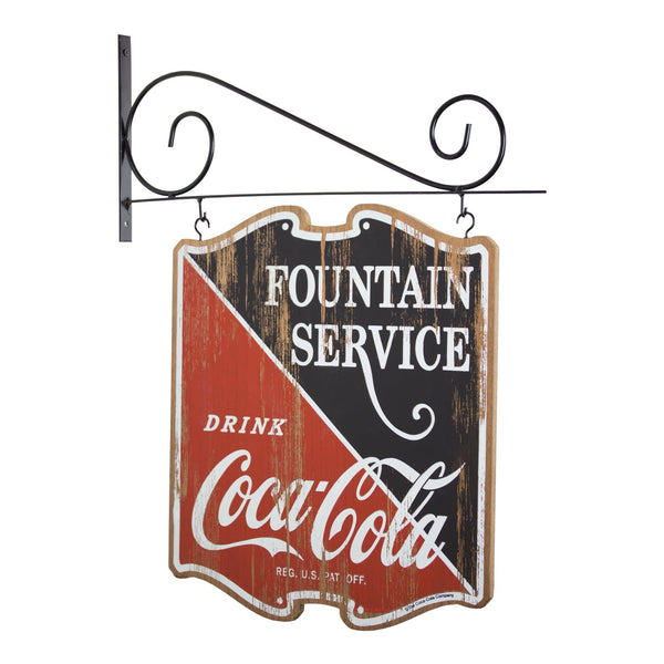 Coca Cola Double Sided Off the Wall Hanging Plaque