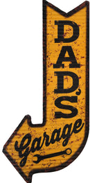 Dads Garage Corrugated Tin Sign