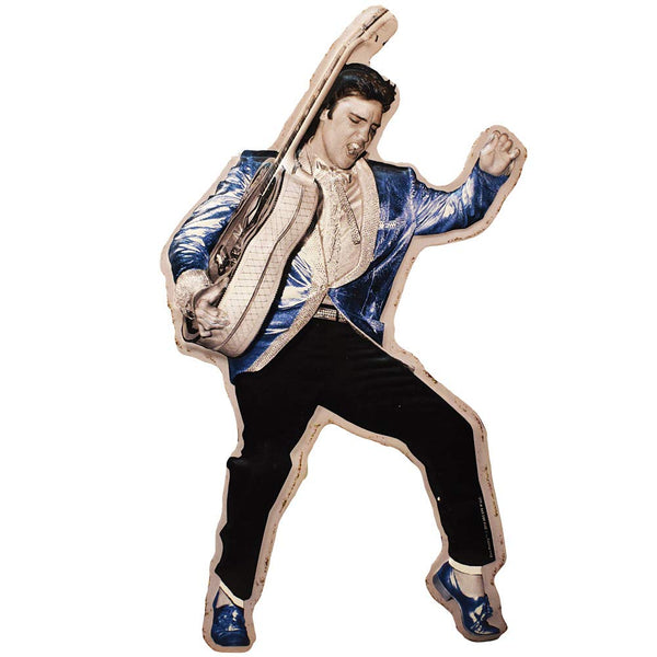 Elvis Diecut  Sign  - Blue Suede Shoes