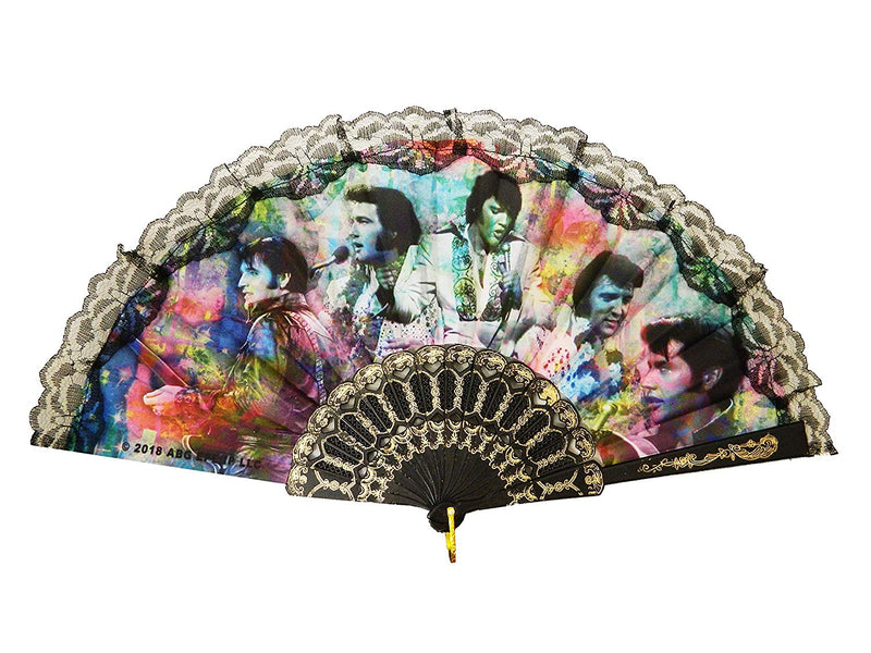 Elvis Presley Hand Fan - Collage