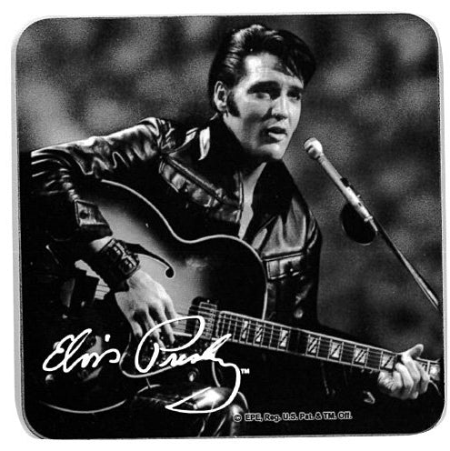 Elvis Coaster Set - Back & White