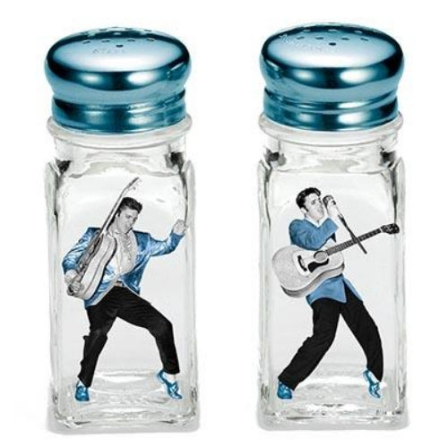 Elvis Blue Suede Shoes Salt & Pepper