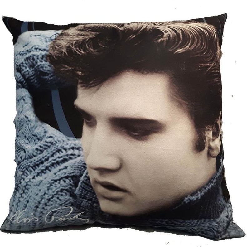 Elvis Presley Cushion - Blue Sweater