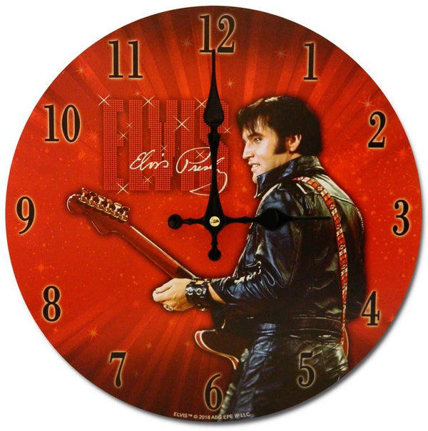 Elvis Presley Clock - 68 Name in Lights