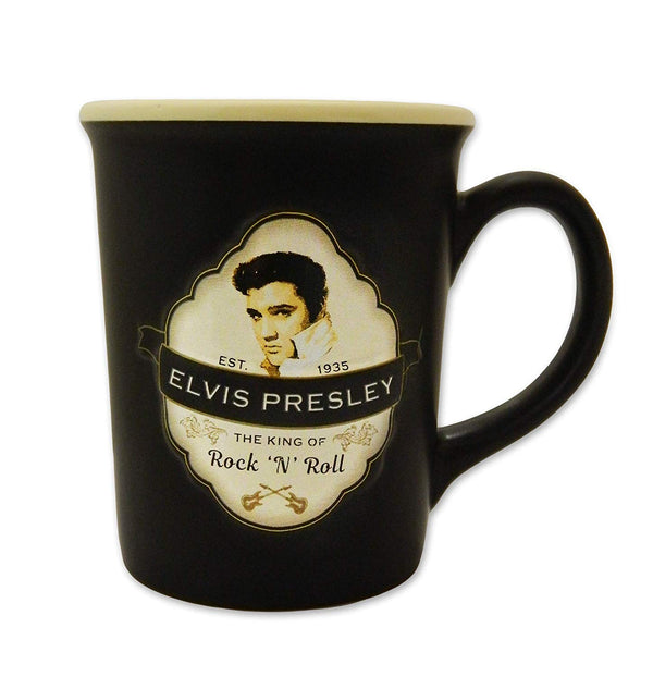 Elvis Coffee Mug - Embossed Shield