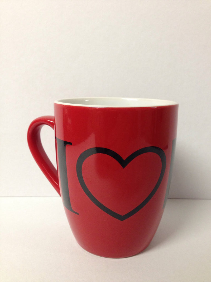 Elvis Coffee Mug - I Love Elvis - Red