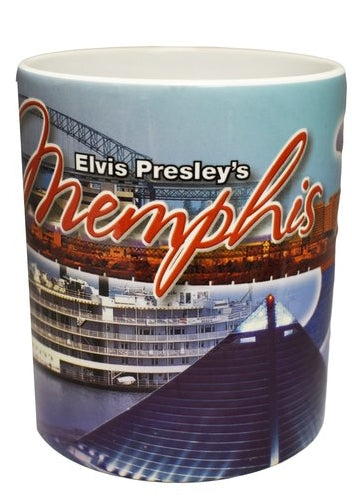 Elvis Coffee Mug - Memphis Collage