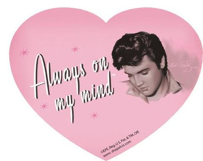 Elvis Mouse Pad - Pink Heart - Always on my mind