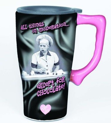 I Love Lucy Travel Mug - Chocolate
