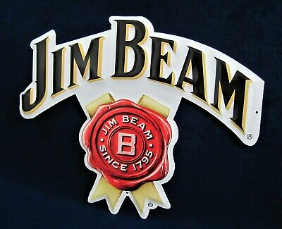 Jim Beam Rosetta Die Cut Embossed Sign