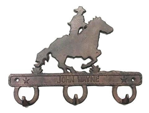 John Wayne Cast Iron Coat / Hat Hook