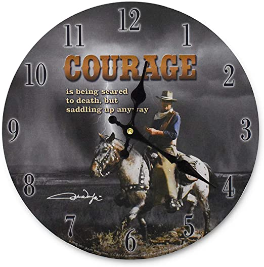 John Wayne Clock - Courage