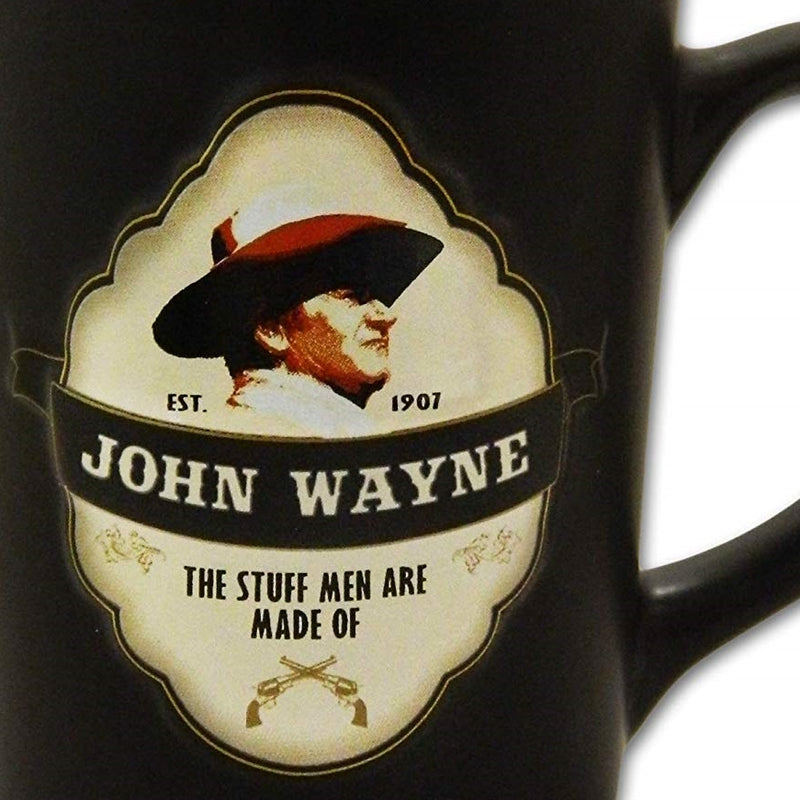 John Wayne Coffee Mug - Embossed Shield