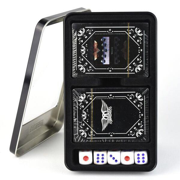KISS Twin Pack Playing Cards with dice.