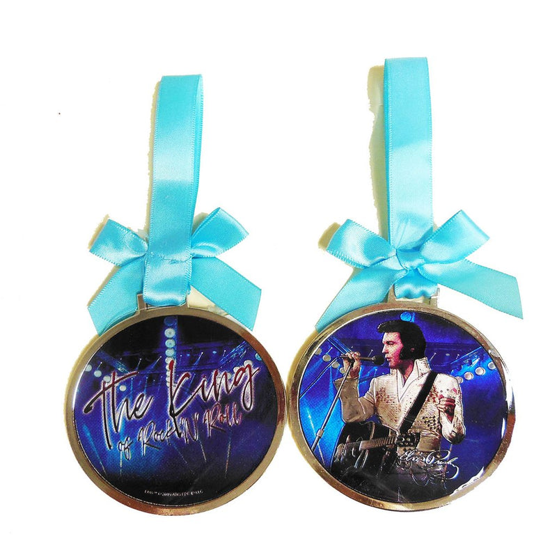 Elvis Presley Christmas Ornament  Blue King of Rock n Roll