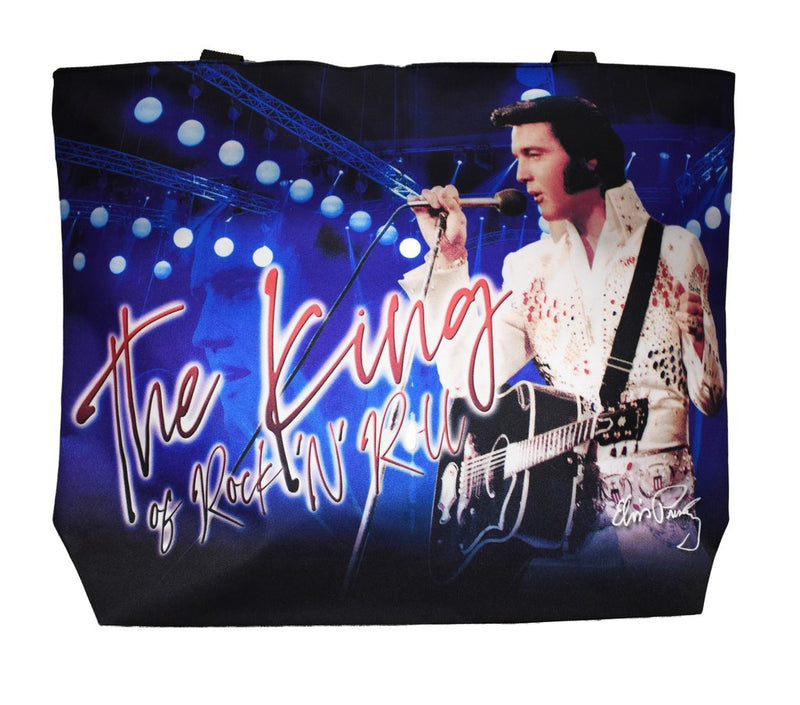 Elvis Tote Bag - Blue King of Rock n Roll