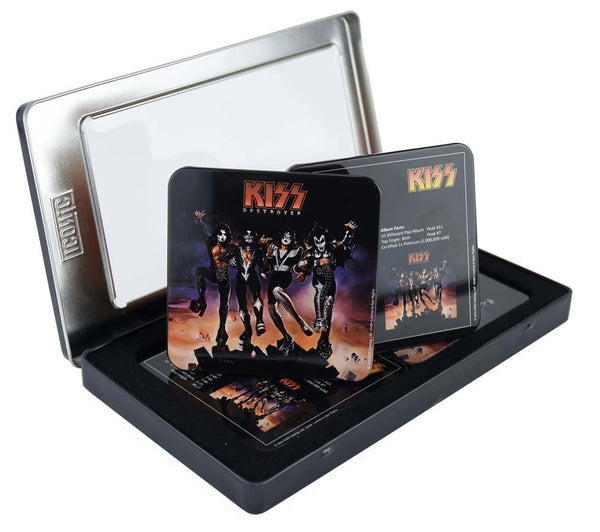 Kiss Destroyer 6pc Coaster Set in Tin Gift Box