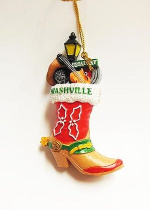 Nashville Boot Christmas Ornament