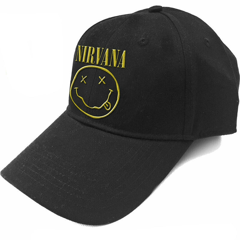 Nirvana Unisex Baseball Cap - Logo & Smiley