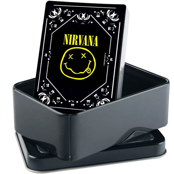 Nirvana Smiley Logo Playing Cards in Tin