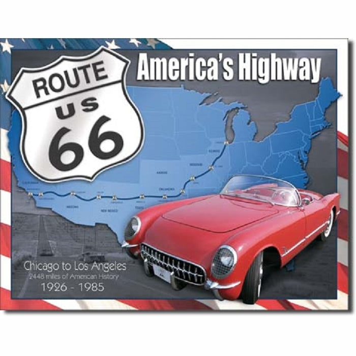 ROUTE 66 Tin Sign - America's Highway 1926-85