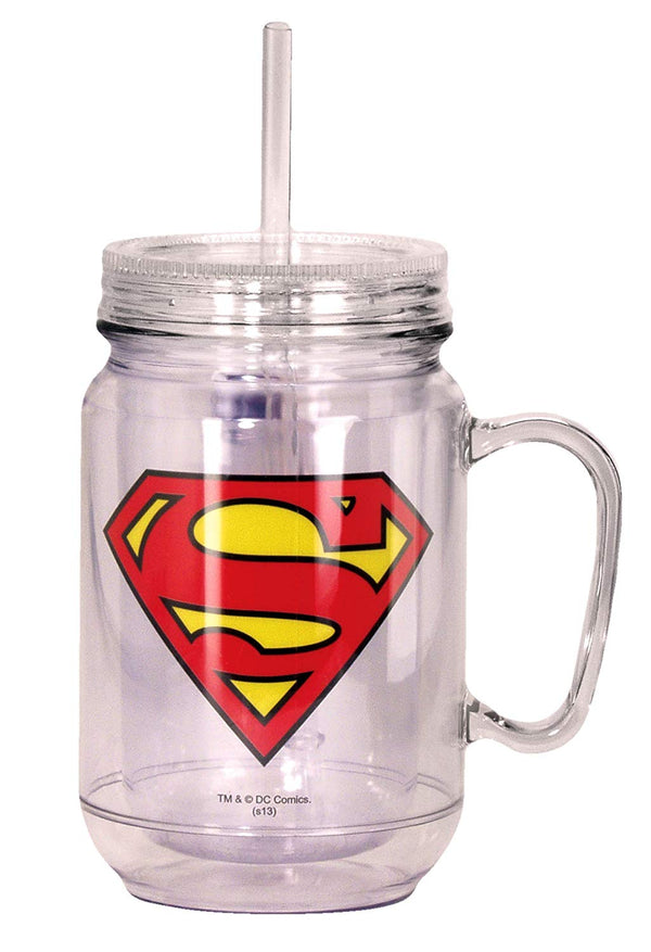 Superman Mason Jar