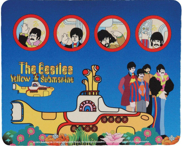 The Beatles Mouse Pad - Yellow Submarine & Portholes
