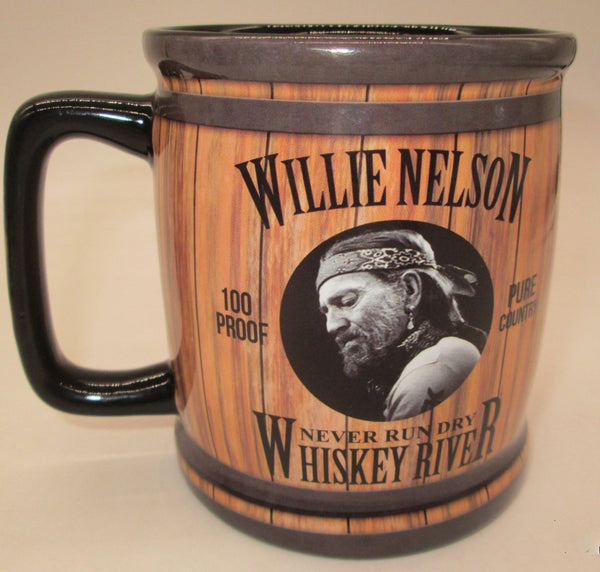 "Willie Nelson 16oz Mug - Barrel ""Whiskey River"""