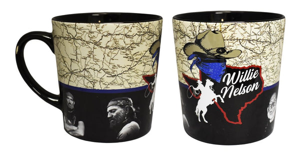 Willie Nelson Mug - Texas Map