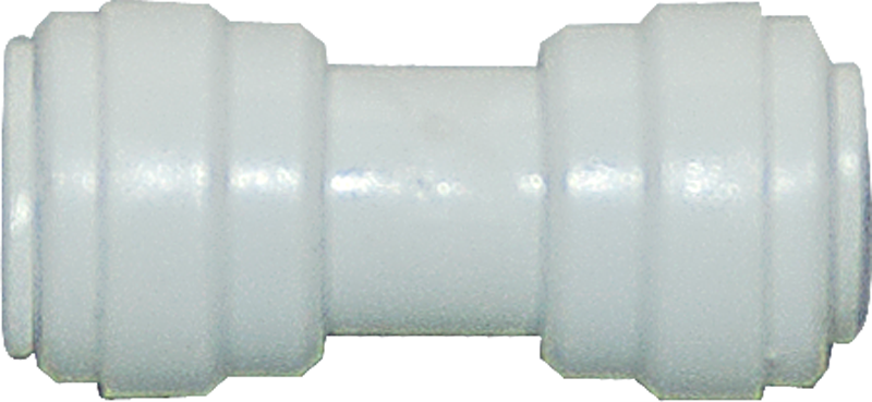 "Straight Reduction Union - 3/8"" Tubing Quick-Connect x 0.25"" Tubing Quick-Connect - Acetal - Spectrapure"