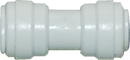 "Straight Reduction Union - 0.5"" Tubing Quick-Connect x 3/8"" Quick-Connect - Acetal - Spectrapure"
