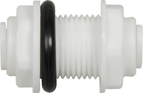 Bulkhead Union - 3/8 inch Quick-Connect/Acetal with Washer - Spectrapure
