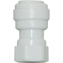 "Straight Female Adapter - 3/8"" Tubing Quick-Connect x 0.25"" FPT - Acetal - Spectrapure"