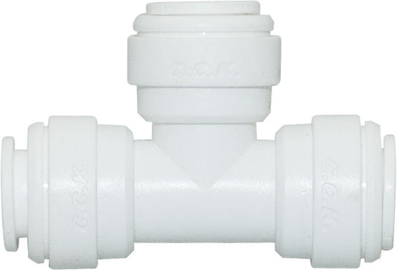 "Tee Union - 3/8"" Tubing Quick-Connect - Acetal - Spectrapure"
