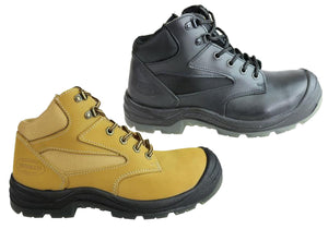 Jenkin Essential Comfort Mens Sampson Steel Toe Cap Side Zip Work Boot